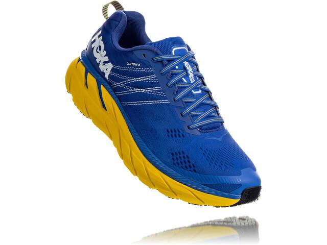 Hoka One One Clifton 6 Running Shoes Men nebulas blue/lemon